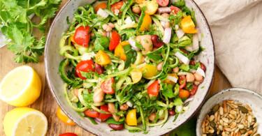 Mediterraner Bohnensalat, Ernährungstipps für einen gesunden Körper von Elle Republic
