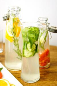 Detox Wasser, Wasser mit Geschmack, Aromawasser, Elle Republic