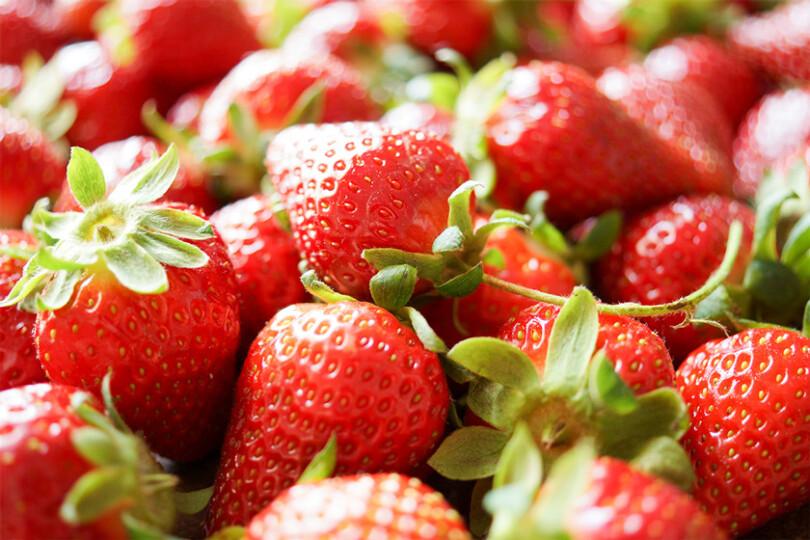 Frische Erdbeeren, leckere und powervolle Ernährungsgrundlage liefern (Bild von Elle Republic)