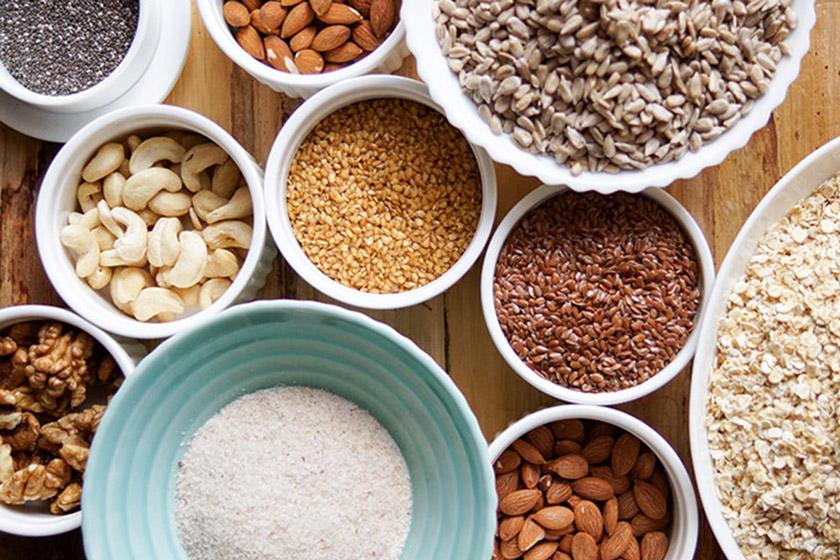 Nüsse und Kerne als Ernährungsgrundlagen