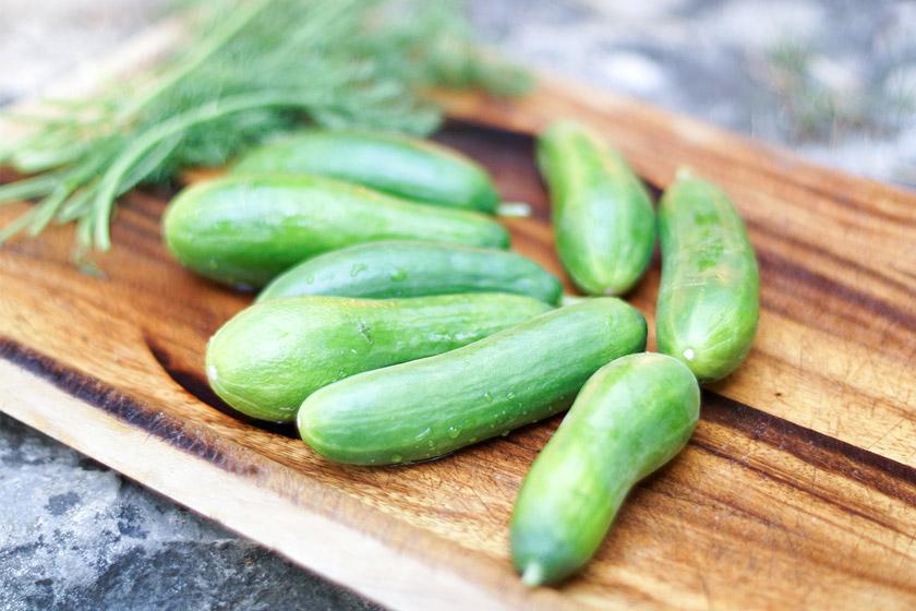 Mini-Gurke, Hautpflege durch gesunde Ernährung