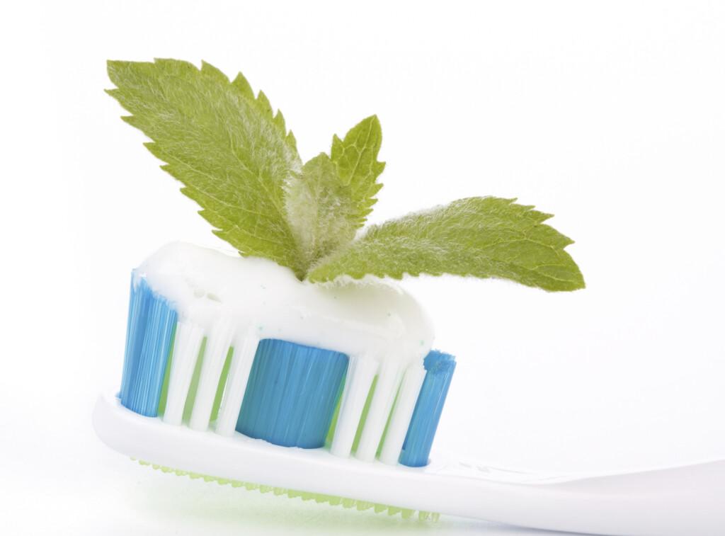 Zahnpasta mit Pfefferminze