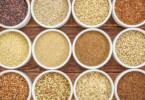 Vollkornarten, (quinoa, brown rice, millet, amaranth, teff, buckwheat, sorghum)