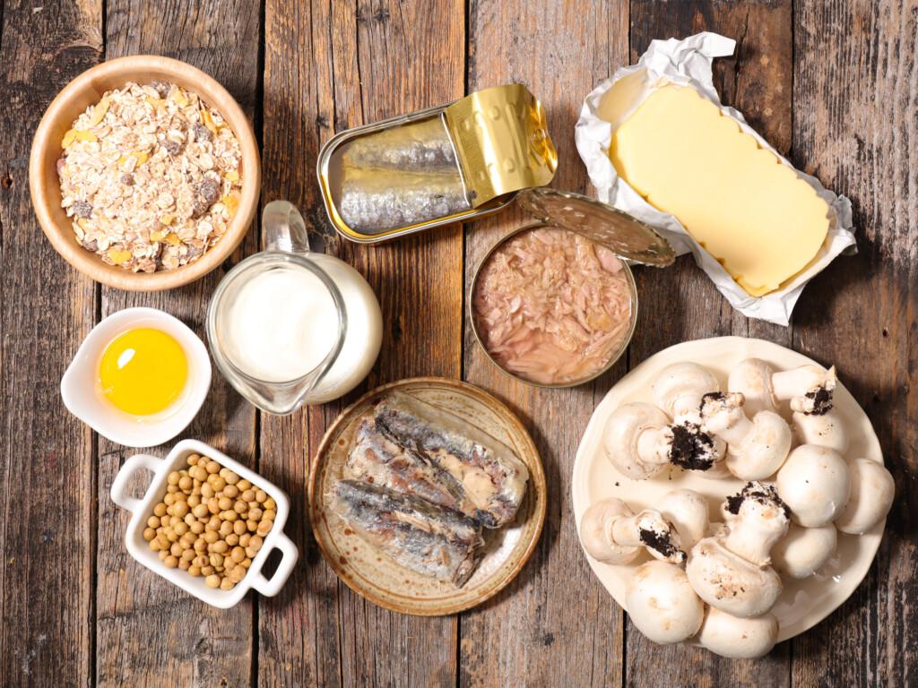 Vitamin D: Eier, Hering