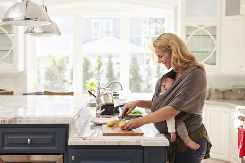 Mutter Baby Kochen