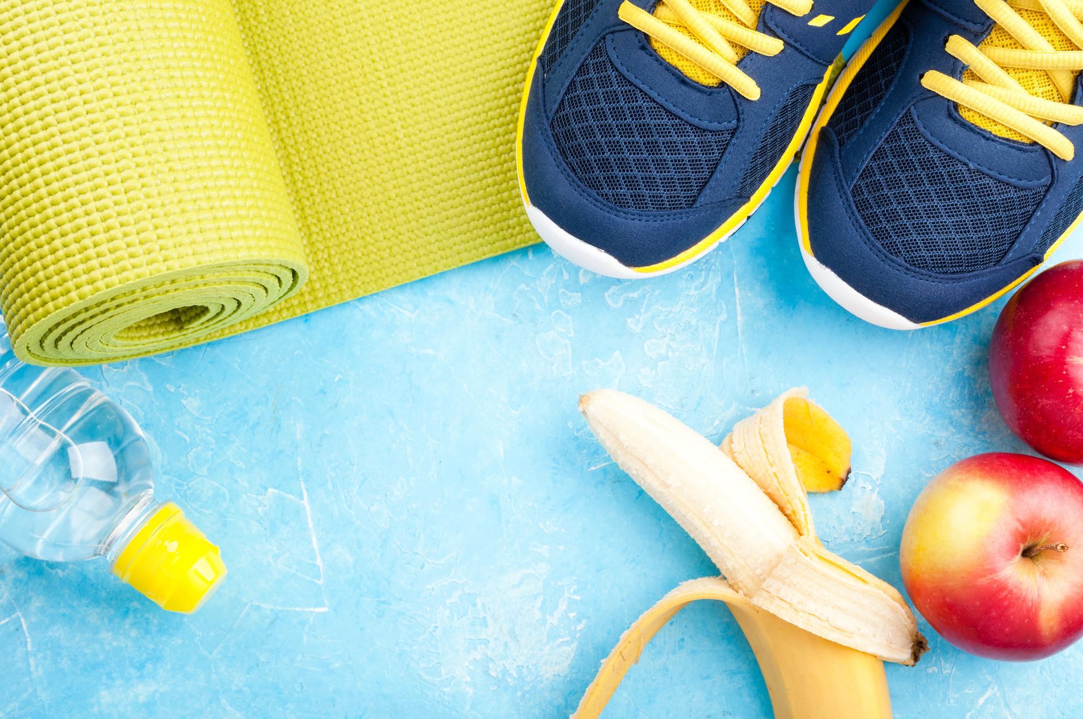 Sport Yoga Fitness gesunde Ernährung