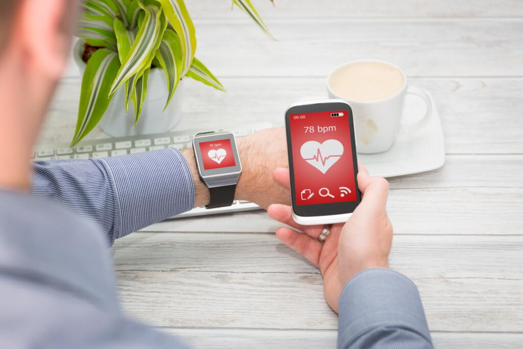 moderne Blutdruckmessgeräte App