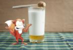 schlauer Fuchs: Milch mit Honig