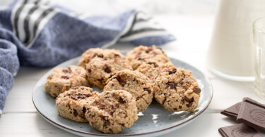 Erdnussbutter-Cookies mit Schokolade (vegan + glutenfrei)
