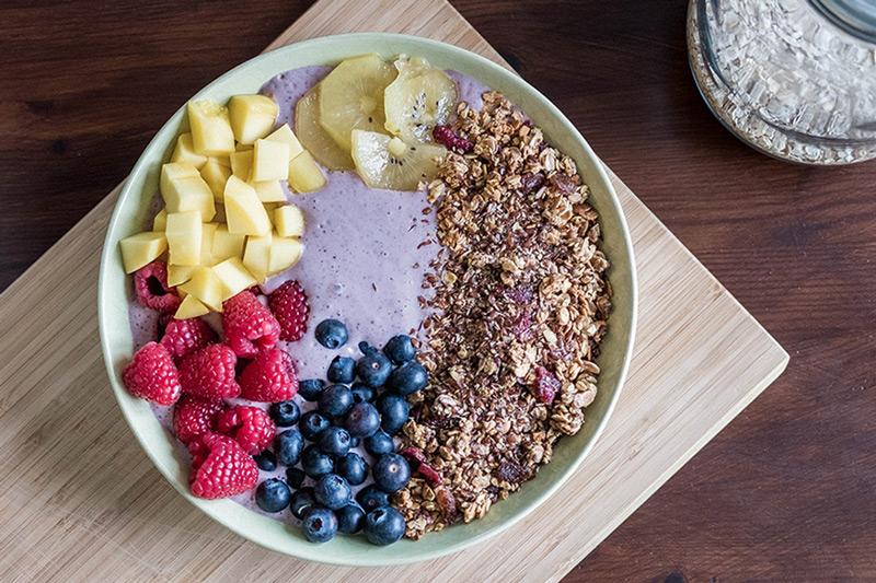 Leinsamen im Müsli oder Porridge