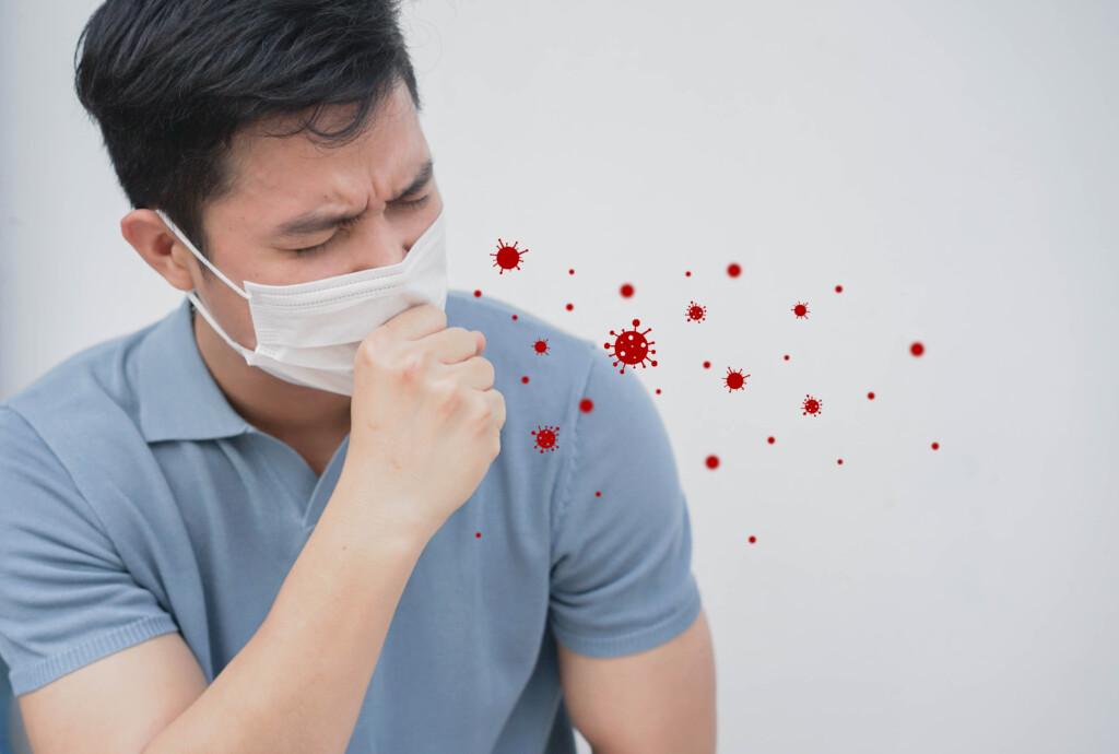 Aerosolausstoß durch niesen und husten