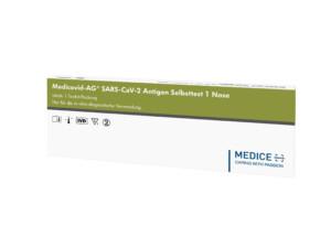 Medicovid-AG SARS-CoV-2 Antigen Selbsttest1 - Nase - PZN 16943749