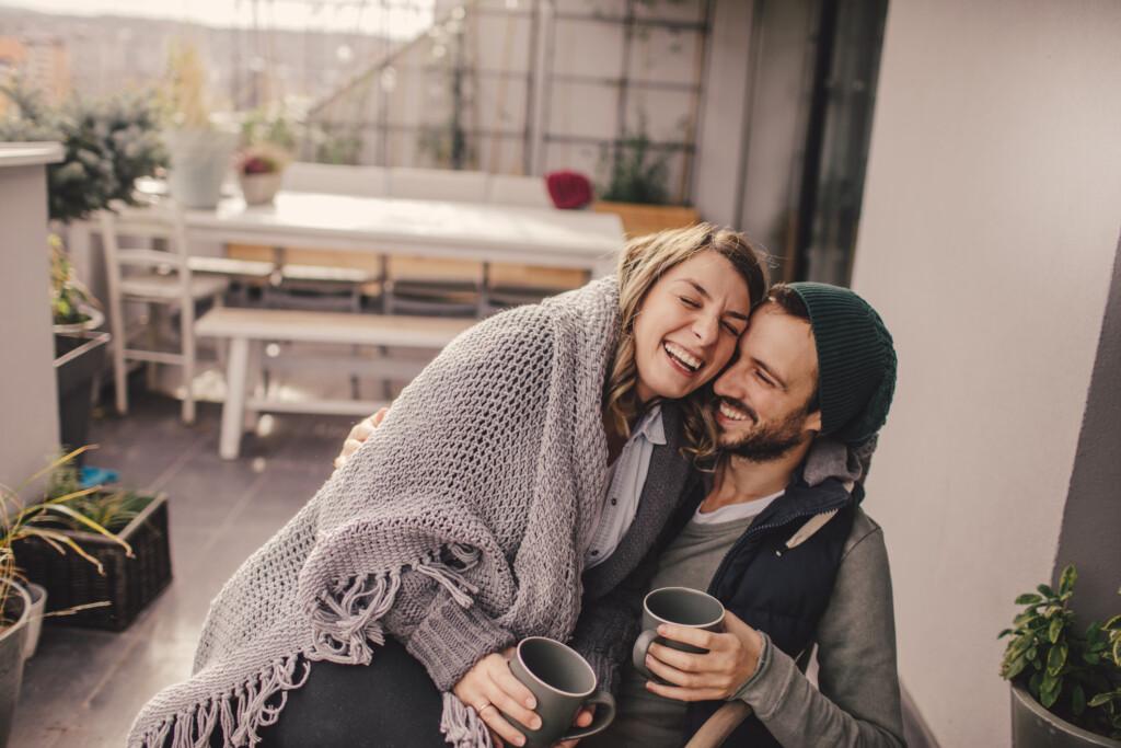 Hilfsmittel um schwanger zu werden - Glückliches Paar